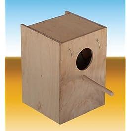 Velma Group Nido in Legno per inseparabili Mis.14,5x15x18,5 cm