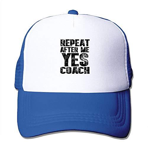 UUOnly New Adjustable Unisex-Adult Mesh Cap Klassische Wiederholung After Me Yes Coach Summer Caps Black