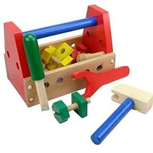 jouet caisse outils en bois jeu imitation pour enfant 3. Black Bedroom Furniture Sets. Home Design Ideas
