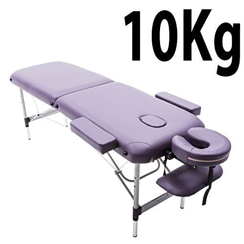 Massage Imperial® - tragbare Massageliege Knightsbridge - Aluminium - 10 kg - 5 cm Schaumstoff - Gesichtskissen enthält 7 cm Schaumstoff - Violett Lila (Massageliege Lila Tragbare)
