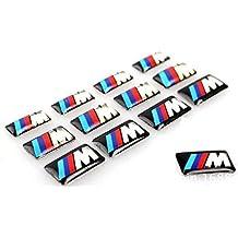 Efficiat (TM) Tec rueda del deporte de la insignia del emblema 3D de la etiqueta engomada del logotipo de BMW M Series M1 M3 M5 M6 X1 X3 X5 X6 E34 E36 E6 pegatinas coche que labra
