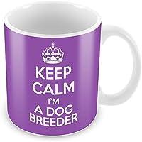 'Colore: viola, motivo: Keep Calm I' m A Dog Breeder tazza da caffè, in confezione regalo, idea regalo lavoro lavoro