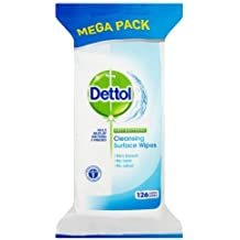 Dettol Surface Wipes Anti bacterial 126 STK antibacteriana superficies Toallitas