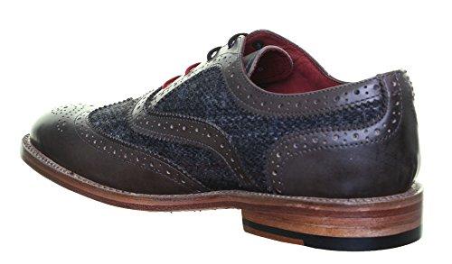 Justin Reece Truman en cuir pour homme à lacets Bureau Chaussures Taille UK Grey WT