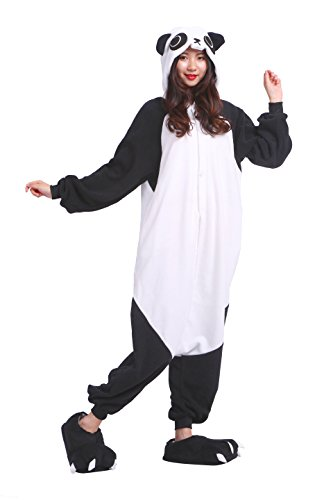 YUWELL Onesie Kigurum Unisex Animal Animal Cosplay Jumpsuit Pajamas Pyjamas Costume Adult, Kung Fu Panda L (Height:170-180cm)