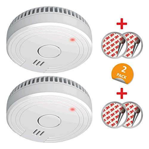 ELRO FS1805 2-Pack Rauchmelder mit Magnetklebe Kit, 5 Jahre Batterie und Garantie/DIN EN14604 Weiß 2 Stück