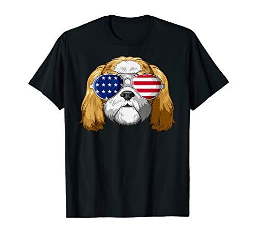 Shih Tzu Patriot Sonnenbrille mit US-Flagge Shih Tzu T-Shirt