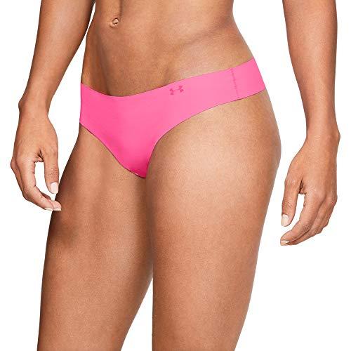 Under Armour PS Thong 3Pack Print Ropa Interior, Mujer, Morado (Purple Ace/Mojo Pink/Mod Gray 543),...
