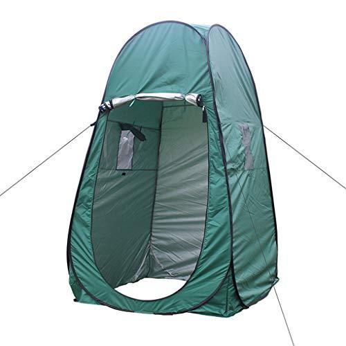 Lindahaot Tragbare Dusche Toilette Camping-Zelt im Freien Dressing Zelt Pop-up wasserdichtes Zelt Privat Zelt Auto Pop-Up-Camping Supplies Grün