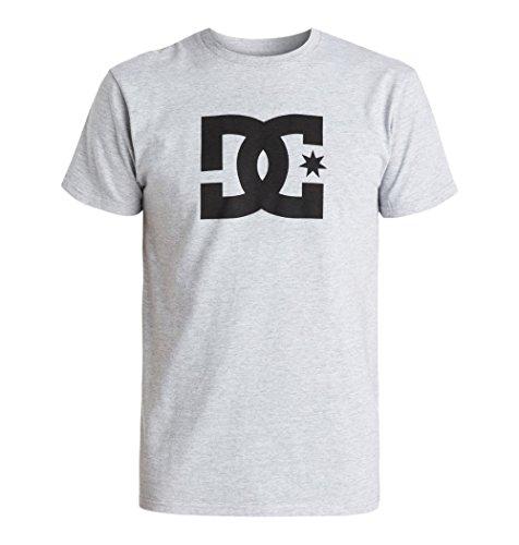 DC Herren Star Short Sleeve T-Shirt, Heather Grey 2015, Mittel