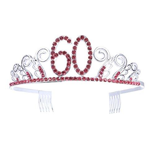 Frcolor 60.a corona Tiara cristalina roja diamante