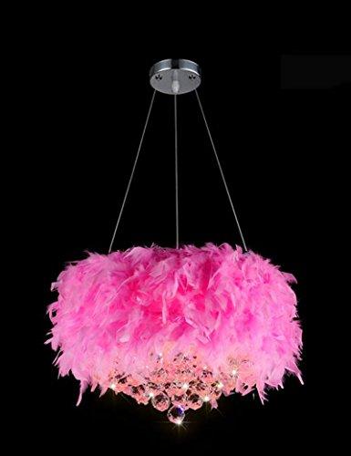 Kronleuchter- Moderne Kristallimitatfedern LED Leuchter Wohnzimmer Esszimmer romantischen...