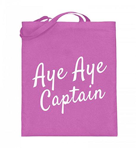 Borsa In Juta Di Alta Qualità (con Manici Lunghi) - Aye Aye Capitano Rosa