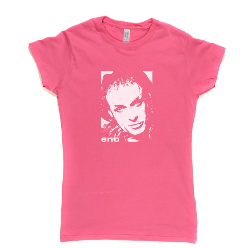 Brian Eno Womens Fitted T-Shirt Rosa