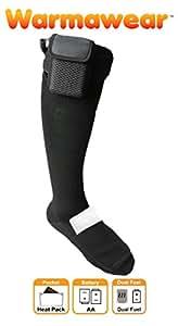 Warmawear beheizbare Socken mit DuoWärme Aufgewahrungsfach und 3 Wärmestufen (Groß)