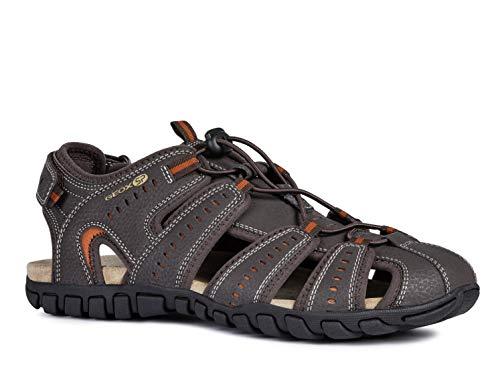 Geox Herren Trekking Sandalen Sand.MITO U92Q2B Männer Outdoor-Sandale,Sport-Sandale,geschlossener Zehenbereich,BRAUN,44
