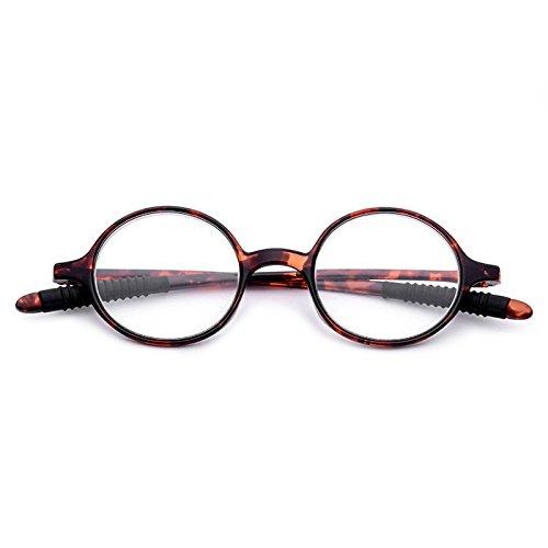 EgBert Tr90 Frame High-Definition Importierte Resin Gläser Lesebrille Presbyopie - Braun - 2.0