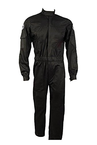 Star Wars Imperial Krawatte Fighter Jaeger Pilot Schwarz flightsuit Fluganzug uniform jumpsuit Cosplay Kostuem (Pilot Shirt Uniform)