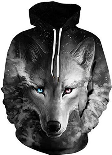 jeansian Herren Damen Junge Madchen Realistische 3D Digital Print Pullover Hoodie Mit Kapuze Fleece Sweatshirt LBH001 Black M Check Cashmere