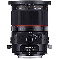 Samyang T-S24MM/NIKON Objectif 24 mm pour Nikon Noir