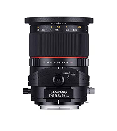 Samyang NIKON - Objetivo para Nikon (distancia focal fija 24 mm, diámetro: 132 mm) negro