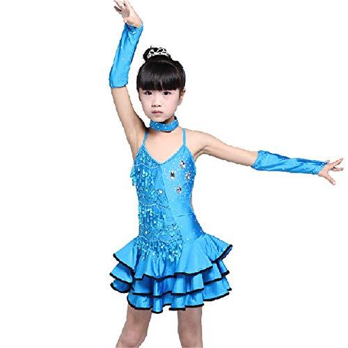 Kinder tanzen Kostüme Kinder Mädchen ärmelloses Latin