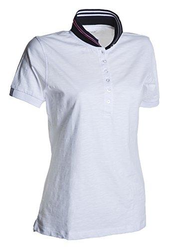 Payper donna Nautic cotone slubby jersey 160 gr. bianco/blu navy