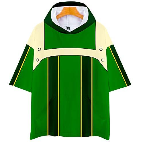 DuHLi My Hero College Hot Spring und Summer Autumn Sale Kurzarm-T-Shirt mit Kapuze Unisex-Paar wie Eltern-Kind-Sport Cosplay,Orange,XL