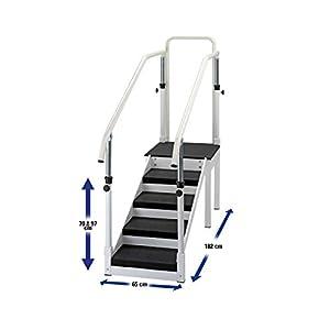 Übungstreppe mit verstellbarem Handlauf, Single Ausführung