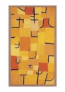 Reproduction d'art 'Signes en jaune', de Paul Klee, Taille: 50 x 70 cm
