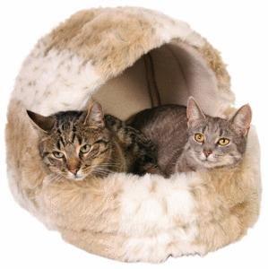 Snow Leopard Cushy Cave Cat Bed