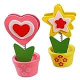 Itemer 2PCS cute photo Holder supporti carta/memo/Note clip Cartoon tabella numero clip per matrimoni party ufficio Home Decoration (colore casuale) (colorato)