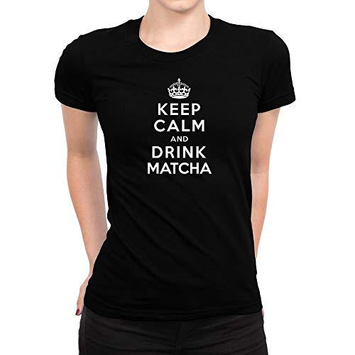 Idakoos Keep Calm and Drink Matcha Damen T-Shirt M