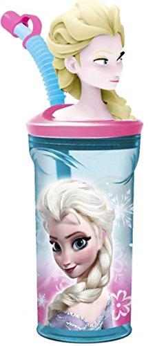 Verre 3d Avec Paille Frozen Elsa La Reine Des Neiges