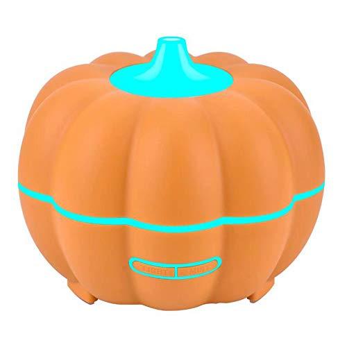 GG-humidifier Halloween Kürbis Holz Aromatherapie Lampe Luftbefeuchter Haushalts ätherisches Öl Aromatherapie Maschine Ultraschall Luftbefeuchter (Halloween Nebel Maschine Für)