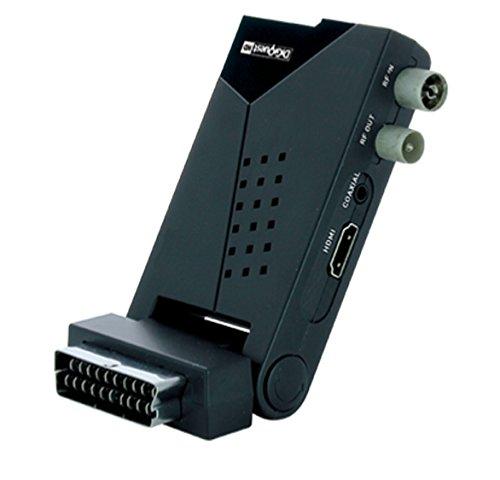 fernseher mit scart anschlu  Kleiner digitaler DVB-T Digiquest Receiver mit Scart