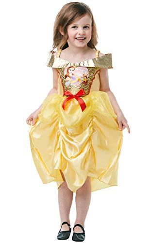 Rubie's 641351TODD Offizielles Disney Prinzessin Pailletten Belle Klassisches Kostüm, Kinderkostüm, Alter 2-3 Jahre, Höhe 98 cm, Mädchen, mehrfarbig (Disney Prinzessin Belle Kostüme)