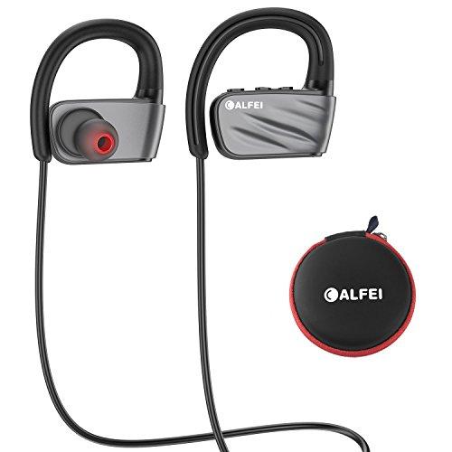 Cuffie bluetooth IPX7 impermeabile - wireless sport Headset CALFEI auricolari con microfono incorporato HD stereo, cancellazione del rumore per corsa palestra running Working out 8 ore