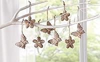 8-pc Hanging set Decoration elemento proprietà: 8-pack fiore: diametro 6cm farfalla formato: L x W: 7x 6cm Composizione: 100% legno