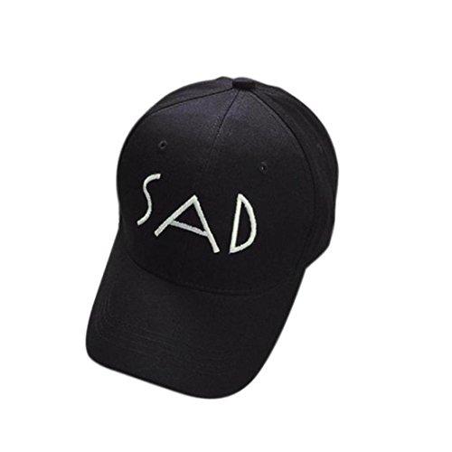 Kingko® Broderie coton Baseball Cap Snapback Caps Hip Hop Chapeaux blanc noir Noir