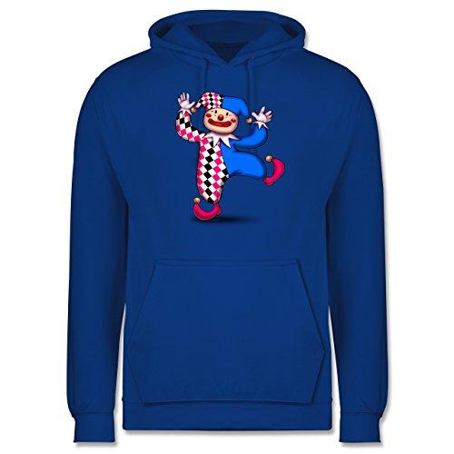 Karneval & Fasching - Tanzender Clown - Männer Premium Kapuzenpullover / Hoodie Royalblau