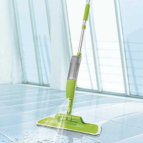 Spray-Mopp Multifunktional 5-tlg. ( integrierte Sprühfunktion, Spraymopp, Teppichreiniger, Fensterreiniger & Gummibesen in einem Set ) (Wischmop)