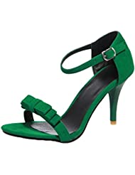 nonbrand Mujer Slim sintético de tacón peep dedos de los pies