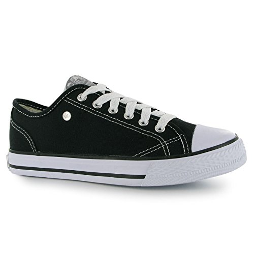 dunlop-womens-canvas-low-ladies-trainers-black-8