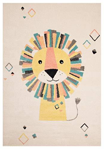Zala Living Kinderteppich Spielteppich Lion Stan Creme Gelb, 120x170 cm -