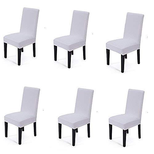 Bella vita * 6 cinghia elastica Freistuhl tratto riferimento copertura fodera copertura della sedia fodera per il matrimonio (bianco)