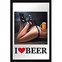 Empire Merchandising 632579 - Specchio con immagine stampata I Love Beer e cornice in plastica, dimensioni 20 x 30 cm - Love Beer