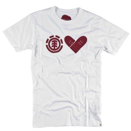 Herren T-Shirt Element Skate with heart SS F White