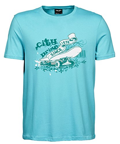 makato Herren T-Shirt Luxury Tee The City Life Aqua