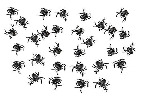 Feste Feiern Halloweendeko I 30 Teile Plastik Spinnen -